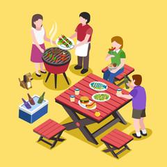 BBQ party scene