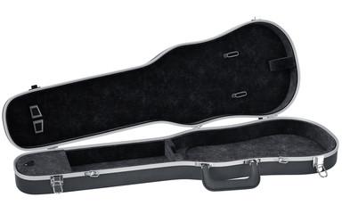 Black open case viola musical instrument accessories. 3D graphic