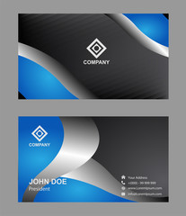 Abstract elegant black business card template