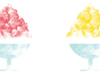 Japanese shaved ice illustration