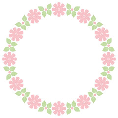 Cute retro flowers frame