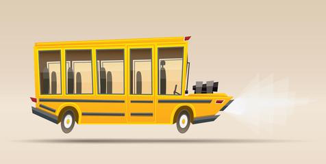 School Bus. Vector Illustration.