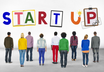 Start Up Business Growth Launch Aspiration Concept