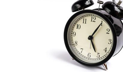 Retro alarm clock with copy space
