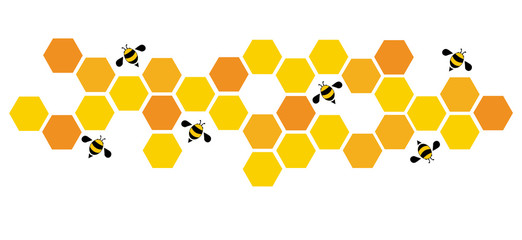 hexagon bee hive design art and space background vector EPS10