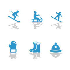 Winter Ski Icons