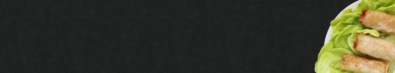 Assiette de nems sur ardoise, carte, menu, bannière