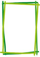 dekorativer grüner Rahmen mit Pinselstrichen