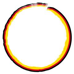 Kreis schwarz rot gold Deutschland Farben