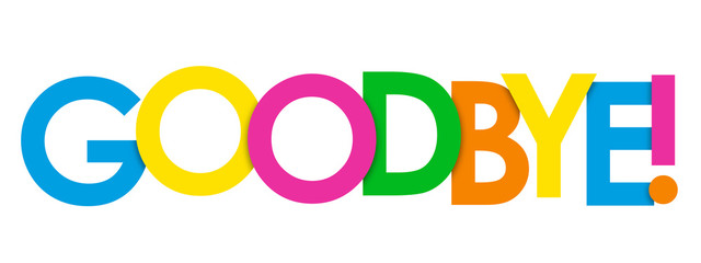 """""""GOODBYE"""" Overlapping Letters Vector Icon"""