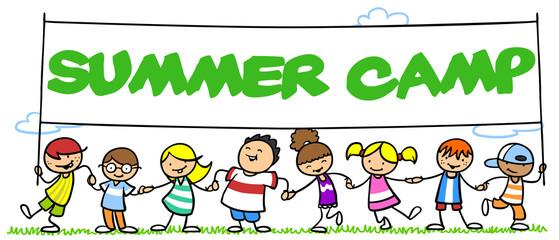 Gruppe Kinder im Summer Camp