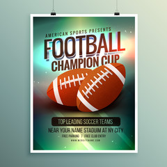 rugby championship cup flyer template