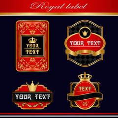 royal vintage label.