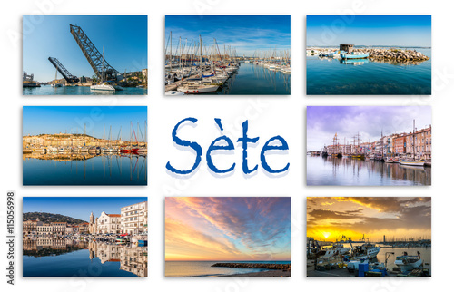 """""""Carte postale de Sète, Languedoc en Occitanie, France"""" photo libre de droits sur la banque d ..."""