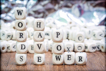 Stack of Words have power dice puzzle