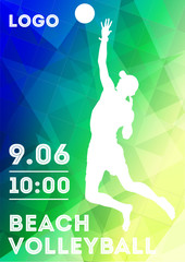 Beach volleyball. Poster.