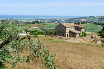 Rural landscape to the coast at San Benedetto del Tronto