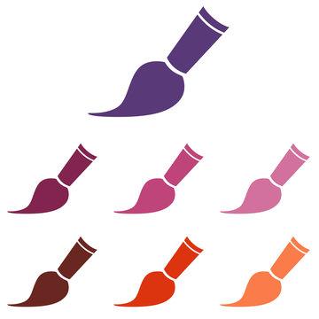 paintbrush icon Vector Illustration