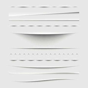 Web Dividers and Shadows Template - Design Elements Set