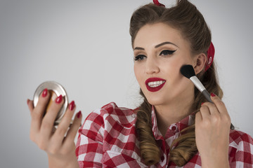 Make up as a feature of pin up girl