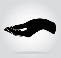 hand holding symbol vector