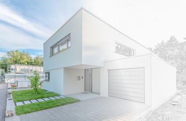 Modernes Haus in Planung