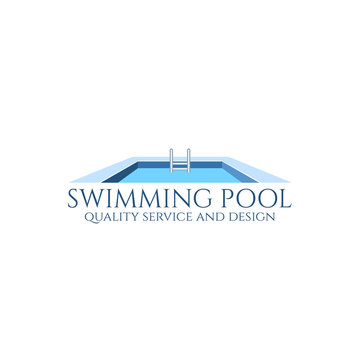 Swimming pool logo.