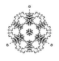 Abstract vector black tribal ornament