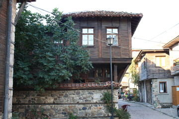 Little street in old town in Bulgaria