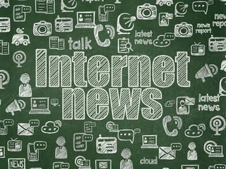 News concept: Internet News on School board background