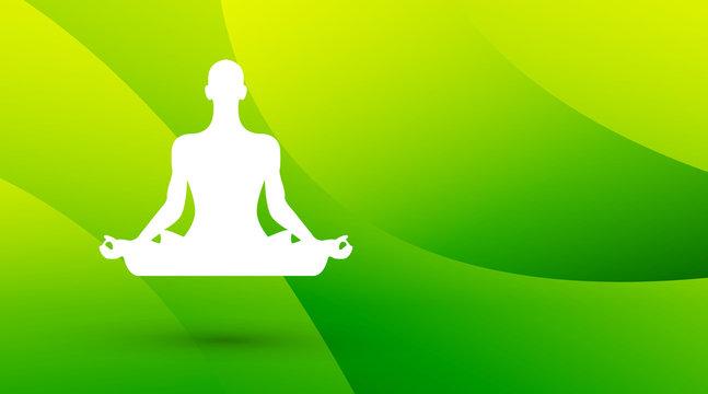 meditazione, yoga, fiore di loto, sfondo