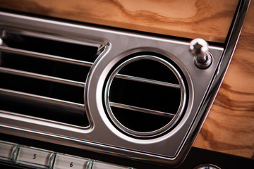 Luxury car air vent