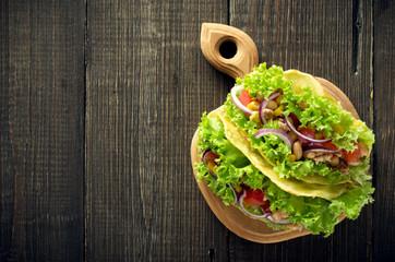 Homemade mexican taco