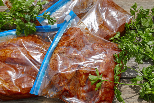 Marinated Meat with barbecue sauce