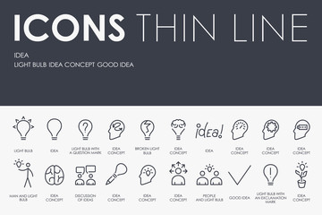 Idea Thin Line Icons