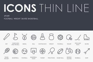 Sport Thin Line Icons