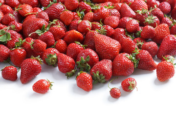 Natural strawberries. Close up, High resolution product.