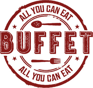 All You Can Eat Buffet Vintage Sign
