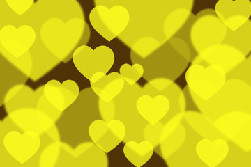 Yellow - Green bokeh background