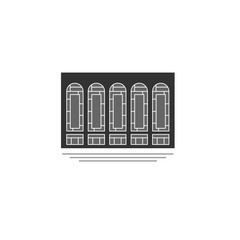 Metropolitan Opera. icon, symboll, emblem. vector illustration.