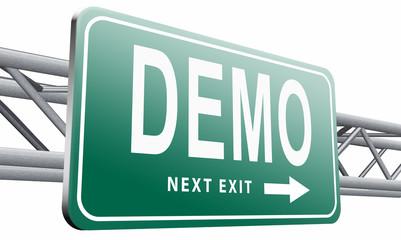 demo or demontration