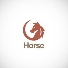 horse icon vector logo