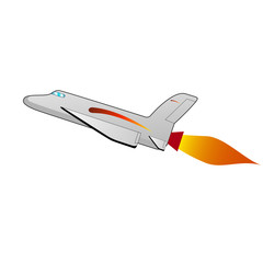 Vector illustration of a cartoon space shuttle
