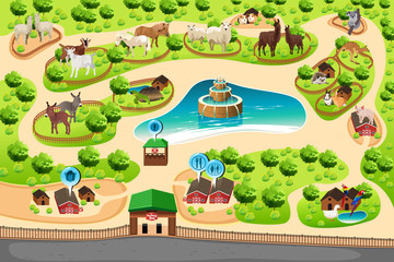 Petting Zoo Map