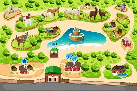 Petting Zoo Map