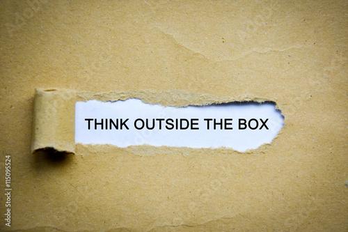 think outside the box stockfotos und lizenzfreie bilder auf bild 115095524. Black Bedroom Furniture Sets. Home Design Ideas