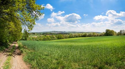 Saarland –Wanderweg Landschaft Natur Panorama bei Ottweiler