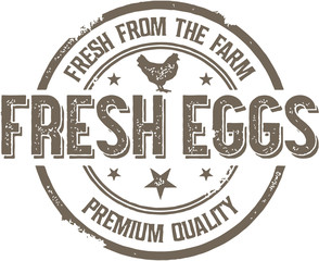 Fresh Eggs Vintage Sign