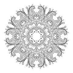 Ornate flowers henna colors vector mandala in indian style
