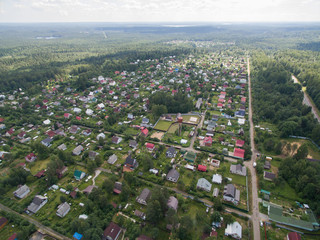 Countryside aerial view